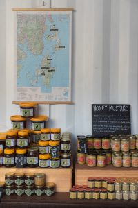 5 - Honey - produce and map of Bruny with hives