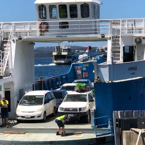 Crossing from Kettering to Bruny Island on the ferry always marks the start of an adventure